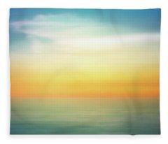 Pastel Sunrise Fleece Blanket