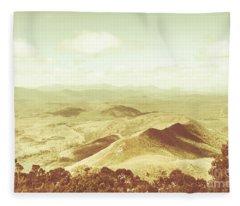 Pastel Tone Mountains Fleece Blanket