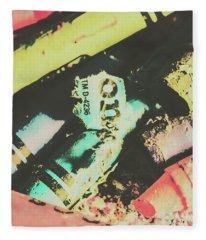 Pastel Toned Crayons Fleece Blanket