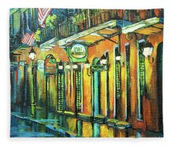 Pat O Briens Fleece Blanket
