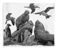 Patagonian Wildlife Fleece Blanket