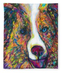 Patches Fleece Blanket