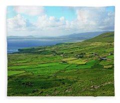 Patchwork Landscape Fleece Blanket