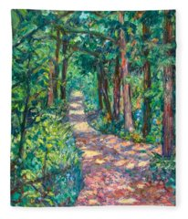 Path On Sharp Top Fleece Blanket