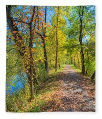 Path Through Fall Fleece Blanket