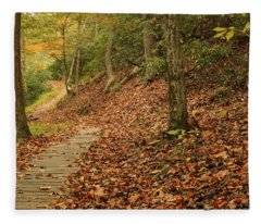 Path To Autumn Fleece Blanket