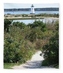 Path To Edgartown Lighthouse Fleece Blanket