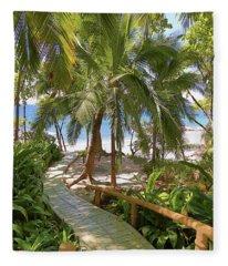 Path To Paradise Fleece Blanket