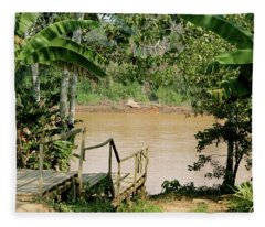 Path To The Amazon River Fleece Blanket