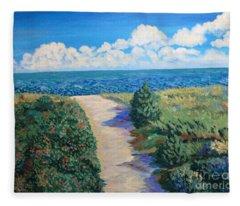 Path To The Sea Fleece Blanket