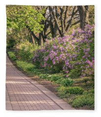 Pathway To Beauty In Lombard Fleece Blanket