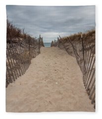 Pathway To The Beach Fleece Blanket
