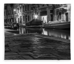 Pathway To The Canal In Venice  Fleece Blanket