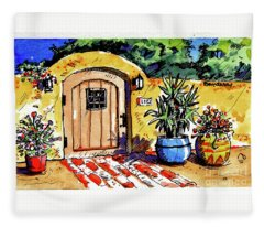 Patio Entrance Fleece Blanket