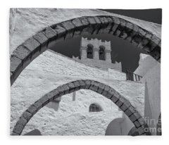 Patmos Monastery Arches Fleece Blanket