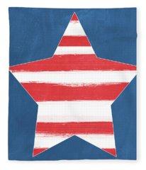 Patriotic Star Fleece Blanket