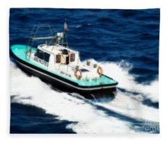Piloting The Waters Fleece Blanket