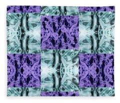 Ultra Violet  And Water  Fleece Blanket