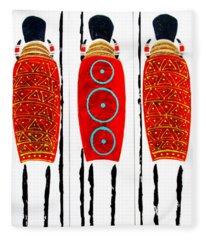 Patterned Masai Triptych Fleece Blanket