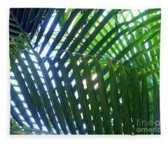 Patterned Palms Fleece Blanket