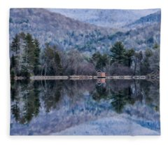 Patterns And Reflections At The Lake Fleece Blanket
