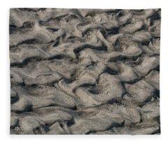 Patterns In Sand 6 Fleece Blanket