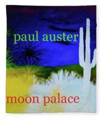 Paul Auster Poster Moon Palace Fleece Blanket