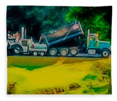 Paving Crew 2 Fleece Blanket