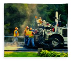 Paving Crew Fleece Blanket
