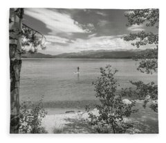 Payette Lake Boarder Fleece Blanket