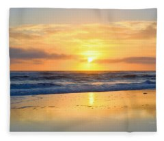 Pea Island In November Fleece Blanket
