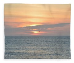 Pea Island Sunrise Fleece Blanket