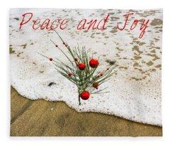 Peace And Joy Fleece Blanket