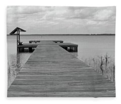 Peace And Serenity II-black And White Fleece Blanket
