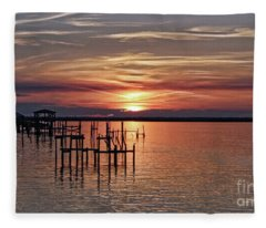 Peace Be With You Sunset Fleece Blanket