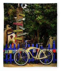 Peace Boho Bicycle Fleece Blanket