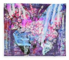 Peace Butterfly Fleece Blanket