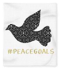 Peace Goals- Art By Linda Woods Fleece Blanket
