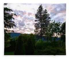 Peace In The Valley Fleece Blanket