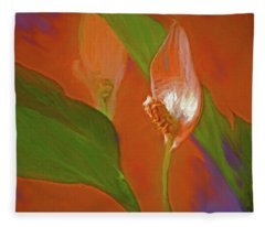 Peace Lily Grace 20 Fleece Blanket