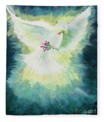 Peace Fleece Blanket