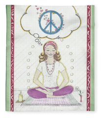 Peace Meditation Fleece Blanket