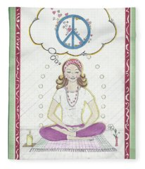 Peace Meditation Fleece Blanket
