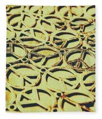 Peace Sign Patterns Fleece Blanket