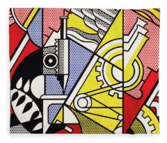 Peace Through Chemistry I - Roy Lichtenstein Fleece Blanket