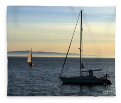Peaceful Day In Santa Barbara Fleece Blanket