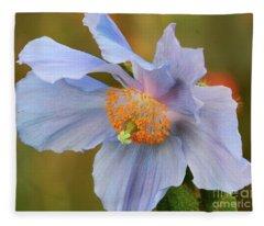 Peaceful Poppy Fleece Blanket