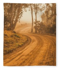 Peaceful Tasmania Country Road Fleece Blanket