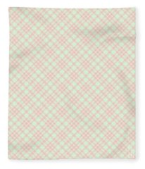Peach And Cucumber Plaid Fleece Blanket