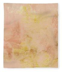 Peach Harvest- Abstract Art By Linda Woods. Fleece Blanket